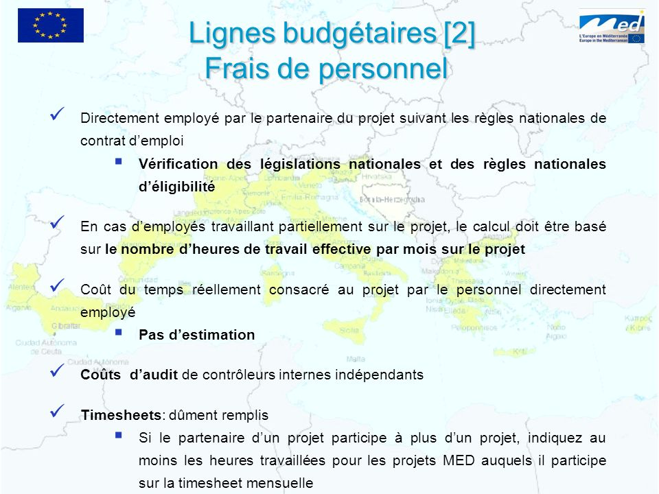 Lignes budgétaires [2] Frais de personnel
